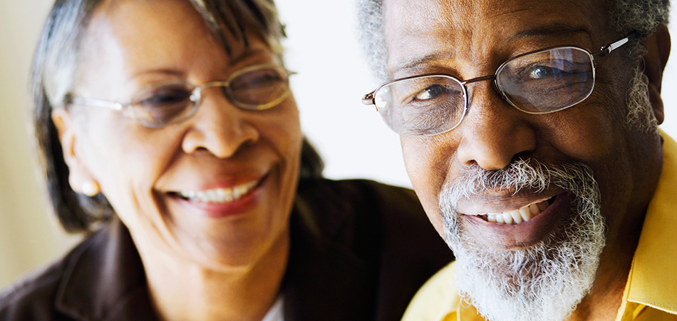 woman smiling fondly at her husband
