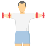 Man lifting up dumbbells icon