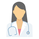 Nurse with stethoscope icon