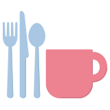 Utensils and mug icon