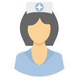 Nurse wearing a hat icon